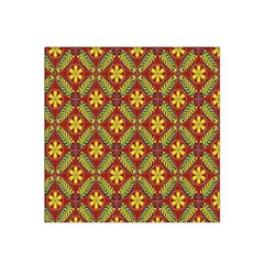 Abstract Yellow Red Frame Flower Floral Satin Bandana Scarf by Alisyart