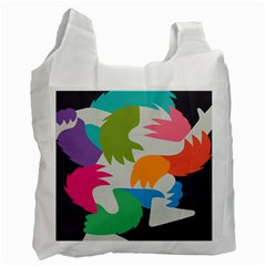 Hand Rainbow Blue Green Pink Purple Orange Monster Recycle Bag (one Side) by Alisyart