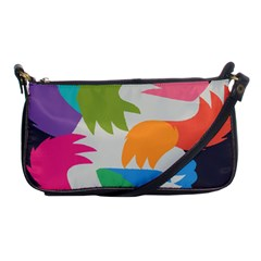 Hand Rainbow Blue Green Pink Purple Orange Monster Shoulder Clutch Bags by Alisyart
