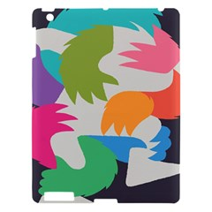 Hand Rainbow Blue Green Pink Purple Orange Monster Apple Ipad 3/4 Hardshell Case by Alisyart