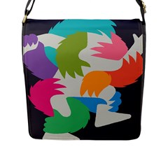 Hand Rainbow Blue Green Pink Purple Orange Monster Flap Messenger Bag (l)  by Alisyart