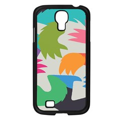 Hand Rainbow Blue Green Pink Purple Orange Monster Samsung Galaxy S4 I9500/ I9505 Case (black) by Alisyart