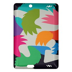 Hand Rainbow Blue Green Pink Purple Orange Monster Amazon Kindle Fire Hd (2013) Hardshell Case by Alisyart
