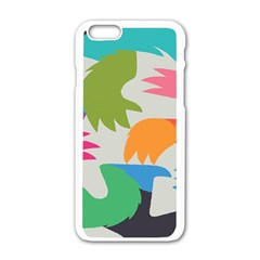 Hand Rainbow Blue Green Pink Purple Orange Monster Apple Iphone 6/6s White Enamel Case by Alisyart