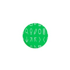 Icon Sign Green White 1  Mini Buttons by Alisyart