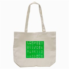 Icon Sign Green White Tote Bag (cream) by Alisyart