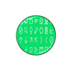 Icon Sign Green White Hat Clip Ball Marker by Alisyart