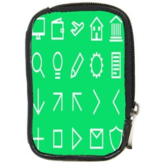 Icon Sign Green White Compact Camera Cases by Alisyart