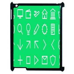 Icon Sign Green White Apple Ipad 2 Case (black) by Alisyart