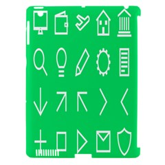 Icon Sign Green White Apple Ipad 3/4 Hardshell Case (compatible With Smart Cover) by Alisyart