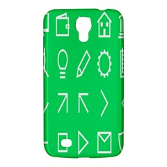 Icon Sign Green White Samsung Galaxy Mega 6 3  I9200 Hardshell Case by Alisyart