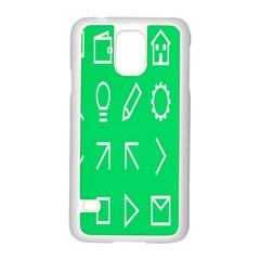 Icon Sign Green White Samsung Galaxy S5 Case (white) by Alisyart