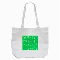 Icon Sign Green White Tote Bag (white) by Alisyart