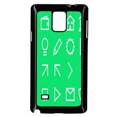 Icon Sign Green White Samsung Galaxy Note 4 Case (black) by Alisyart