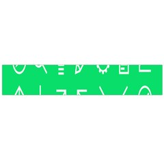 Icon Sign Green White Flano Scarf (large) by Alisyart
