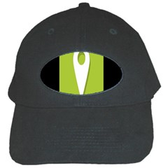 Location Icon Graphic Green White Black Black Cap by Alisyart
