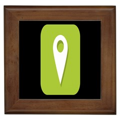 Location Icon Graphic Green White Black Framed Tiles by Alisyart