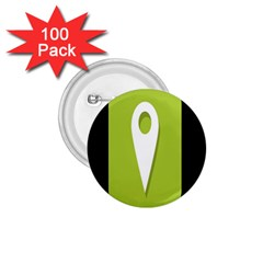 Location Icon Graphic Green White Black 1 75  Buttons (100 Pack)  by Alisyart