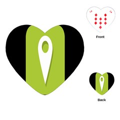 Location Icon Graphic Green White Black Playing Cards (heart)  by Alisyart