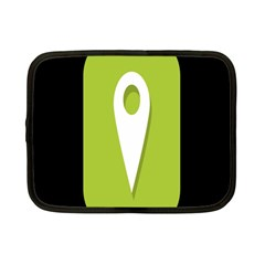Location Icon Graphic Green White Black Netbook Case (small)  by Alisyart