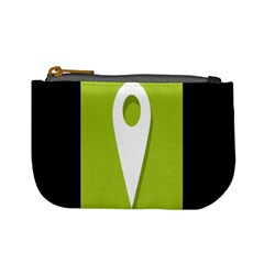 Location Icon Graphic Green White Black Mini Coin Purses by Alisyart