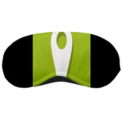 Location Icon Graphic Green White Black Sleeping Masks by Alisyart