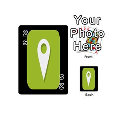 Location Icon Graphic Green White Black Playing Cards 54 (mini)  by Alisyart