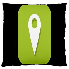 Location Icon Graphic Green White Black Large Cushion Case (one Side) by Alisyart