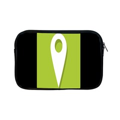 Location Icon Graphic Green White Black Apple Ipad Mini Zipper Cases by Alisyart