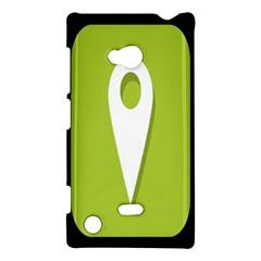 Location Icon Graphic Green White Black Nokia Lumia 720 by Alisyart