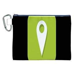 Location Icon Graphic Green White Black Canvas Cosmetic Bag (xxl) by Alisyart