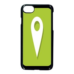 Location Icon Graphic Green White Black Apple Iphone 7 Seamless Case (black)