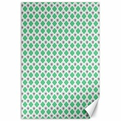 Crown King Triangle Plaid Wave Green White Canvas 24  X 36  by Alisyart