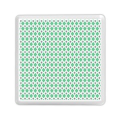 Crown King Triangle Plaid Wave Green White Memory Card Reader (square)  by Alisyart