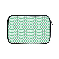 Crown King Triangle Plaid Wave Green White Apple Ipad Mini Zipper Cases by Alisyart