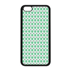 Crown King Triangle Plaid Wave Green White Apple Iphone 5c Seamless Case (black) by Alisyart