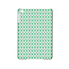 Crown King Triangle Plaid Wave Green White Ipad Mini 2 Hardshell Cases by Alisyart