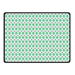 Crown King Triangle Plaid Wave Green White Double Sided Fleece Blanket (small)  by Alisyart