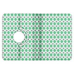 Crown King Triangle Plaid Wave Green White Kindle Fire Hdx Flip 360 Case by Alisyart