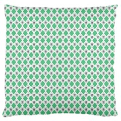 Crown King Triangle Plaid Wave Green White Standard Flano Cushion Case (two Sides) by Alisyart