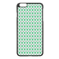 Crown King Triangle Plaid Wave Green White Apple Iphone 6 Plus/6s Plus Black Enamel Case by Alisyart