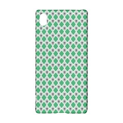 Crown King Triangle Plaid Wave Green White Sony Xperia Z3+ by Alisyart