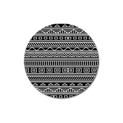 Myria Wrapping Paper Black Magnet 3  (round) by Alisyart