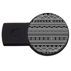 Myria Wrapping Paper Black Usb Flash Drive Round (4 Gb) by Alisyart