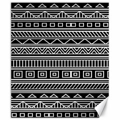 Myria Wrapping Paper Black Canvas 20  X 24   by Alisyart