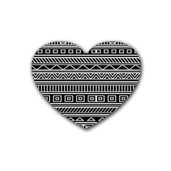 Myria Wrapping Paper Black Rubber Coaster (heart)  by Alisyart