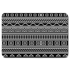 Myria Wrapping Paper Black Large Doormat  by Alisyart