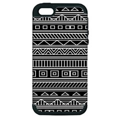 Myria Wrapping Paper Black Apple Iphone 5 Hardshell Case (pc+silicone) by Alisyart