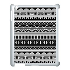Myria Wrapping Paper Black Apple Ipad 3/4 Case (white) by Alisyart