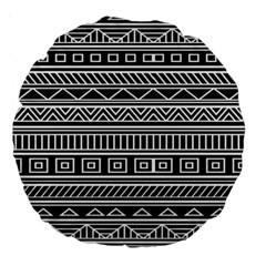 Myria Wrapping Paper Black Large 18  Premium Round Cushions by Alisyart